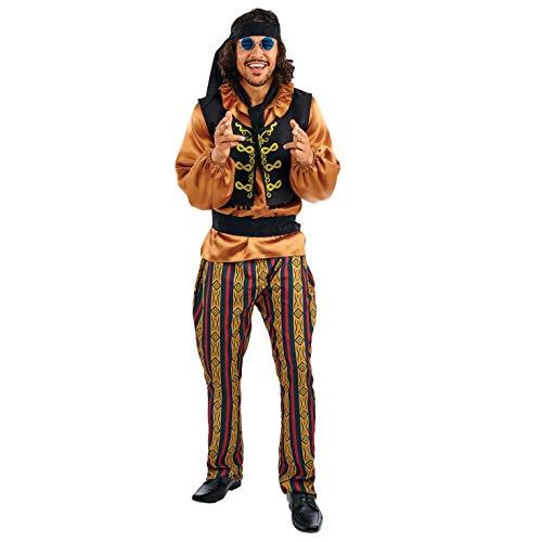 Star Mann Rock Kostüm - Fun Shack Herren Costume Kostüm, 60s Rock Star, L