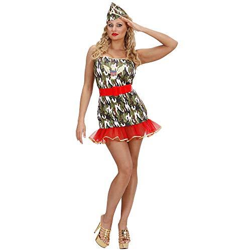 WIDMANN 59083 Erwachsenen Kostüm Soldatin, Mehrfarbig, ()