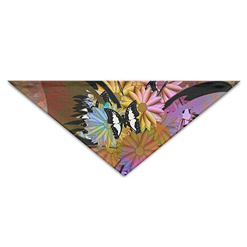 Sdltkhy Abstract Butterfly Flower Triangle Pet Scarf Dog Bandana Pet Collars Dog Cat - Birthday -