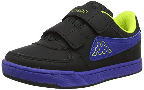 Kappa Unisex-Kinder Trooper Ice BC Kids Sneaker, Schwarz (Black/Blue 1160), 25 EU