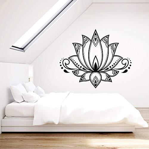 supmsds Vinyl wandtattoo für Schlafzimmer lotusblüte Blume Buddhismus Yoga mädchen Zimmer wandaufkleber Nordic Dekoration kunstwand 73,5x87,5 cm