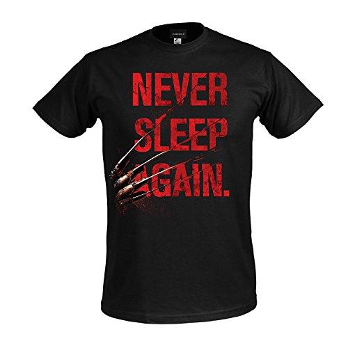Elbenwald Freddy Krueger Nightmare Men's T-Shirt NeverSleep Cotton Black
