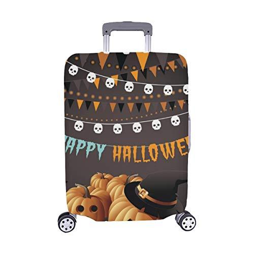 (Nur abdecken) Happy Halloween Party Kürbisse Bunting Konfetti Staubschutz Trolley Protector case Reisegepäck Beschützer Koffer Abdeckung 28,5 X 20,5 Zoll