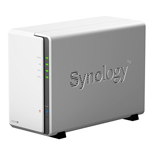 Synology DS216j 4TB (2 x 2TB WD RED) 2 Bay Desktop NAS Unit