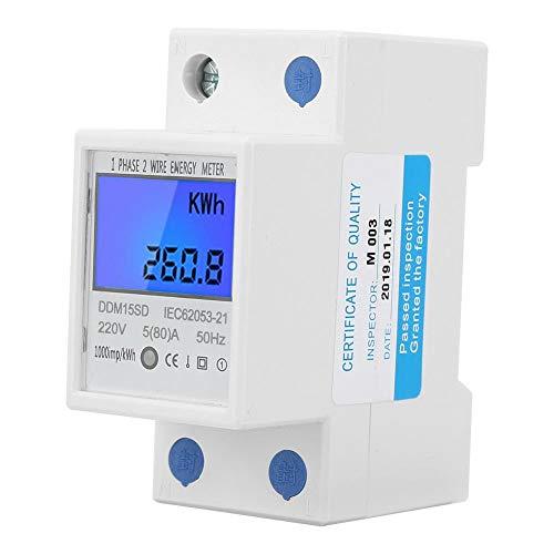 DDM15SD Medidor de energía eléctrica multifunción monofásico LCD con pantalla de retroiluminación...