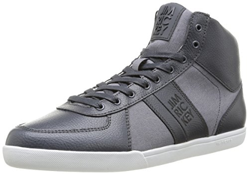 Jim Rickey Zenith Tumbled Leather Fine Tweed, Baskets mode homme Gris (Grey)