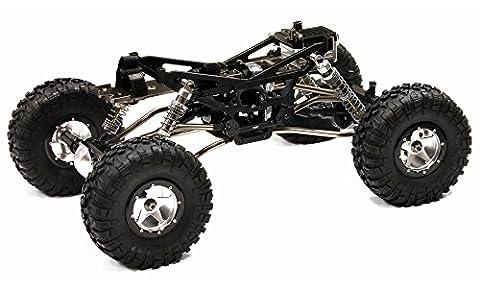 Integy Hobby RC Modell c24966blackt2V2Billet Bearbeitete 1/10Trail Racer 4WD All Terrain Maßstab Crawler ARTR