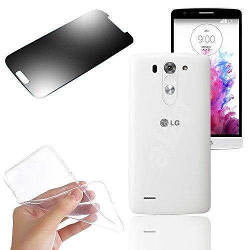 EximMobile PREMIUM - Silikon Case Schutzhülle für LG G3 s + Panzerfolie