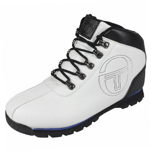 Sergio Tacchini - Chaussure Boots Quay Garçon Tendance Ecole Blanc / Noir / Bleu Blanc / Noir / Bleu