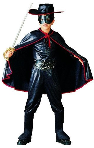 Foxxeo 10081 | Zorro Kostüm für Kinder, Größe:116/122