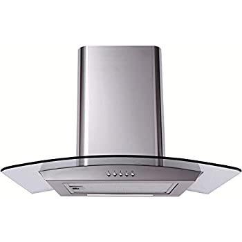 Matrix MEP601SS Curved Glass 60cm Chimney Cooker Hood Stainless Steel