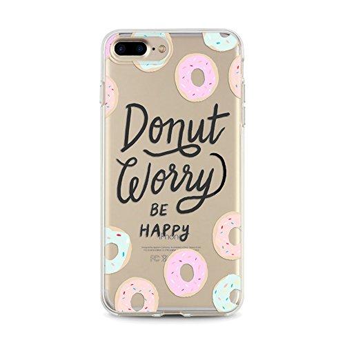Panelize iPhone 7 Plus Emoji Hülle Schutzhülle Handyhülle Hard Case Cover Kratzfest Rutschfest Durchsichtig Klar (Donut) Donut