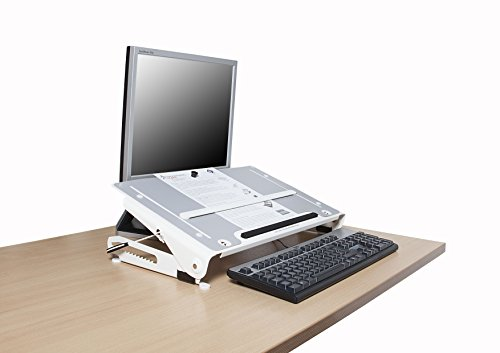 R-Go Tools U Slope Profesionalo Soporte de documentos metálico - Archivador (Plata, 340 mm, 590 mm, 95 mm, 3,34 kg, 390 mm)