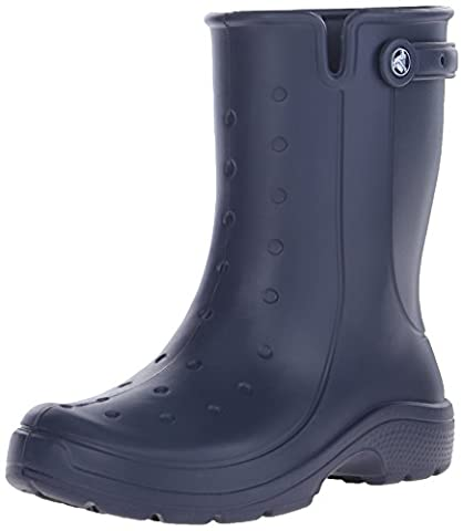Crocs Reny II Boot, Unisex-Erwachsene Kalt gefüttert Gummistiefel Halbschaft Stiefel & Stiefeletten, Blau (Navy 410), 38/39