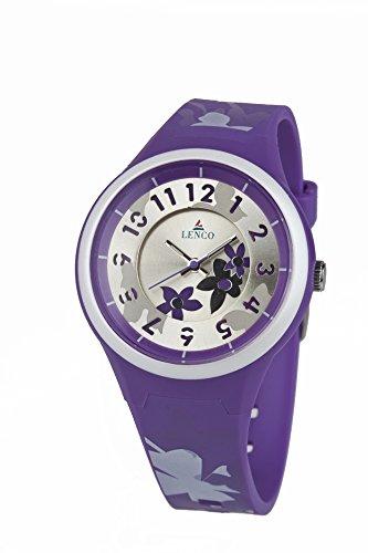 Lenco CPLENCOAQUAPURPLE Aqua Analog Watch For Couple