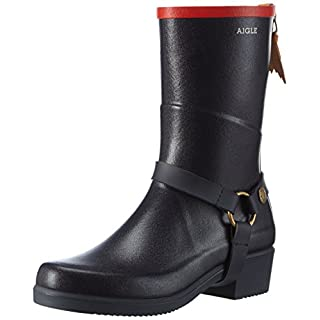 Aigle Women's Miss Julie Wellington Boots, Blue (Marine/Rouge), 5.5 UK