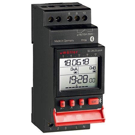 Müller SC28.23 pro4 Hutschienen-Zeitschaltuhr digital 230 V/AC 16 A/250V -