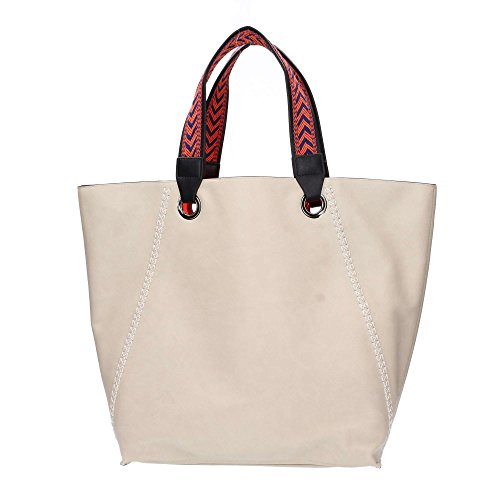 Borsa Shopping Bag Combo Bag Cupido Grey & Orange Grau