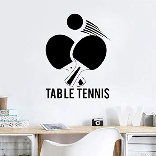 Tischtennis Kunst Vinyl Wandaufkleber Kinderzimmer Ping Pong Sport Entfernen Schlafzimmer Wohnzimmer Becal Dekoration Poster 42x55cm