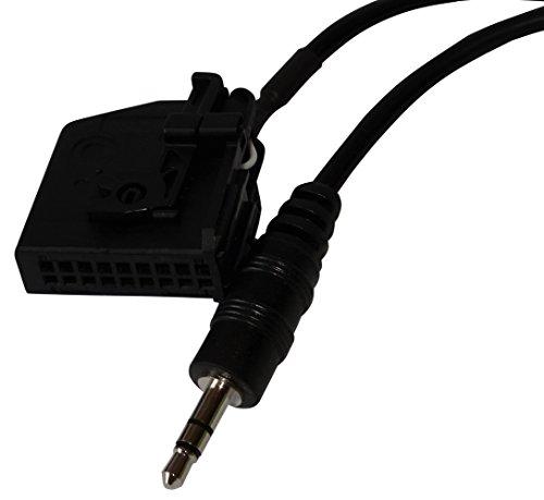 AERZETIX: Adaptador cable AUX con jack 3.5mm para autoradio de coche, vehiculos