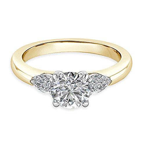 1,84ct Runde Schnitt Diamant Engagement Hochzeit Ring 14K Solid Gelb Gold Größe I, J, K L M N O P Q R S T Solitaire Engagement Ring 14k