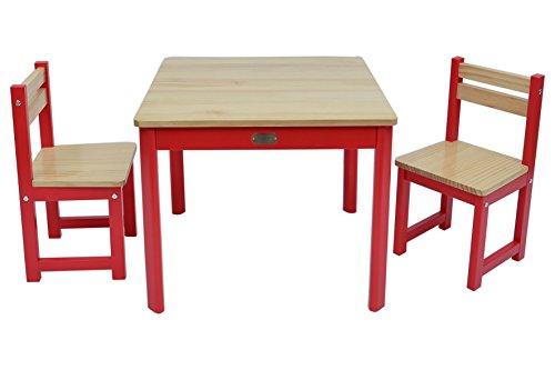 TikkTokk Envy Boss-Set Tavolo e sedie, Legno, Colore: Rosso