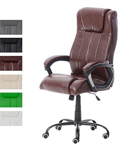 Clp poltrona ufficio direzionale matador in similpelle - sedia studio ergonomica girevole e regolabile in similpelle - poltrona pc con braccioli bordeaux