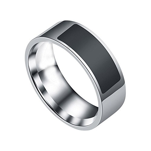 squarex NFC Multifunktional Wasserdicht Intelligente Ring Smart tragen Finger Digital Ring, Herren, schwarz, T 1/2