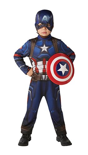 Rubies 3620771 - Captain America Civil War Classic - Child, Verkleiden und Kostüme, M (Captain America Halloween Kostüm Kinder)