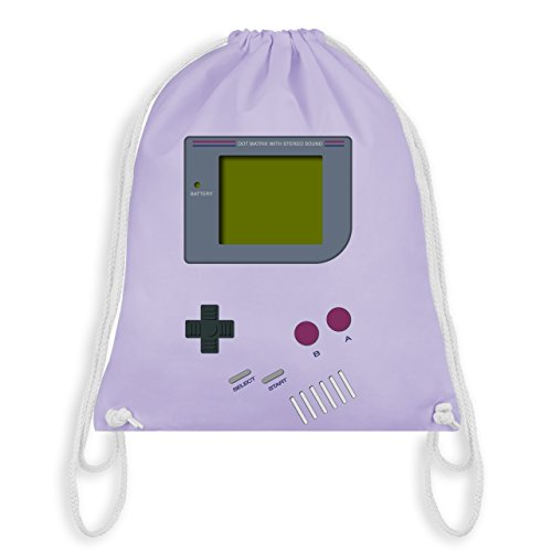 Nerds & Geeks - Gameboy - Unisize - Pastell Lila - WM110 - Turnbeutel & Gym Bag