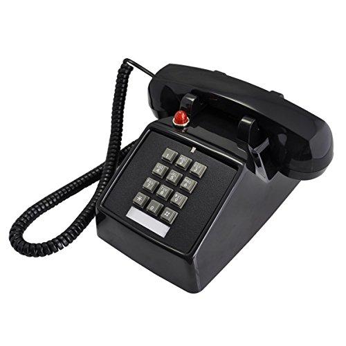 Telefon Classic Square Retro Plattenspieler ABS Taste Vintage Antike Büro Home Telefon Büro Landung Maschine Metallic Glocke,A -