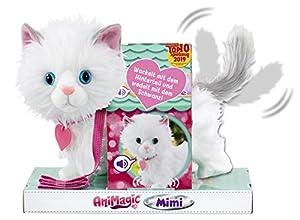 Animagic 256576 Mimi - Mascota electrónica, diseño de Gato, Color Blanco