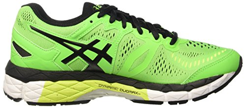 Asics Gel-Kayano 23 Gs, Chaussures de Sport Mixte Enfant Multicolore (Green Gecko/Black/Safety Yellow)