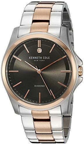 kenneth-cole-10027880-da-uomo-in-acciaio-bicolore-bracciale-quadrante-grigio-smart-watch