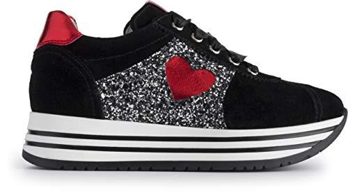 Nero giardini sneakers bassa ragazza a931180f/100 (37 eu)