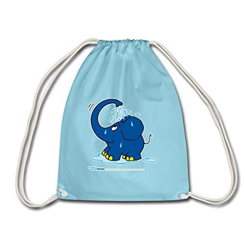 Spreadshirt Sendung Mit Dem Elefanten Kleiner Elefant Dusche Turnbeutel, Aqua