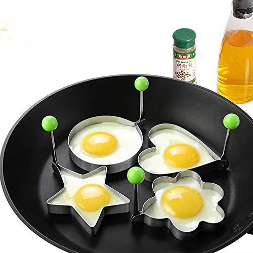 Idea Hohe Blumen-Form: Edelstahl Spiegelei-Werkzeuge 5 Stile Pfannkuchen Formen Kochen Werkzeug Ring Küche Werkzeug Pfannkuchen Fried Egg