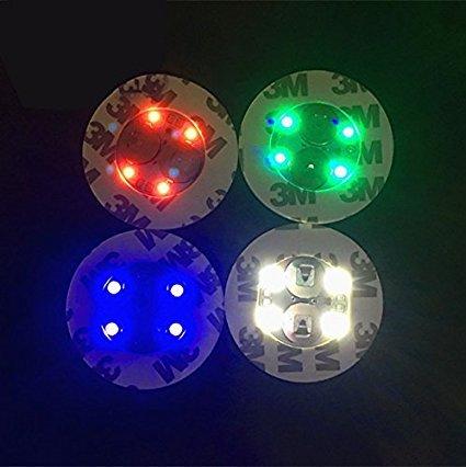 Led Bouteille Stickers 4 lumières éclairage de dessous de bouteille pour boire - 10 pcs/lot, rgb, 4 Lights