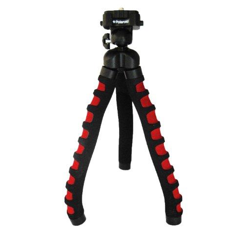 Polaroid Dreibeinstativ für Digitalkameras und Camcorder, 30,5 cm, Schaumstoffbeschichtung, Rot