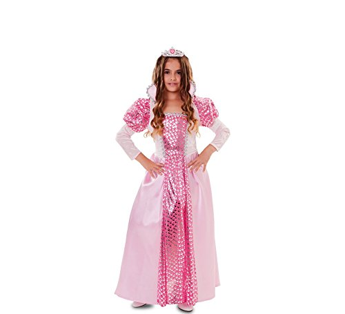 Fyasa 706144-T02 Kostüm, Königin, 7 bis 9 Jahre, Mehrfarbig, Größe M (Sieben Von Neun Kostüm)