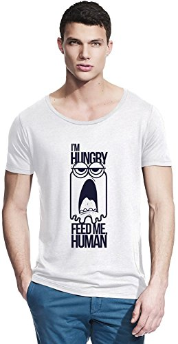 Feed Me Human Bamboo Wide Neck T-shirt X-Large