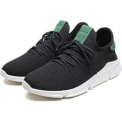 layasa Men's Air Series Mesh Casual,Walking,Running/Gymwear Shoes (8, Black)