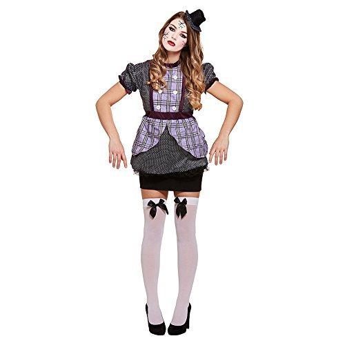 Fancy Me Damen Gebbrochen Puppe Puppe Gejagter Marionette Halloween Horror Unheimlich Kostüm Kleid Outfit - Marionetten Kostüm Kinder
