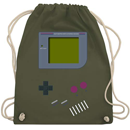 Nerds & Geeks - Gameboy - Unisize - Olivgrün - WM110 - Turnbeutel & Gym Bag