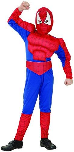 Generique - Spinnenmann Superheld Kostüm für Jungen 134/140 (10-12 (11 Jahre Superhelden Kostüm)