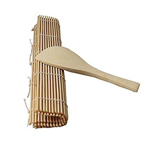 REFURBISHHOUSE Delicioso Fabricante de Rollos de Sushi Esterilla de Bambu para Rollo Material de la Carcasa + Paleta de Arroz