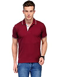 B&W Organic Cotton Polo T-Shirt - Maroon