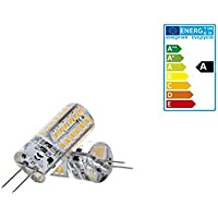 ECD Germany 3W G4 LED Lampadina 12V 140 Lumen Angolo del fascio 360 ° Bianco Neutro 4000K