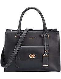 b8110858a270 David Jones - Women s Small Size Satchel Handbag - Fashion Lady Crossbody Shoulder  Bag - Front
