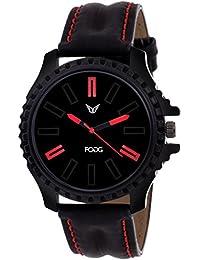 Fogg Analog Black Dial Men's Watch 11110-BK